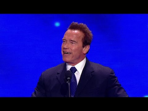 Arnold Schwarzenegger inducts Bruno Sammartino into the 2013 WWE Hall of Fame
