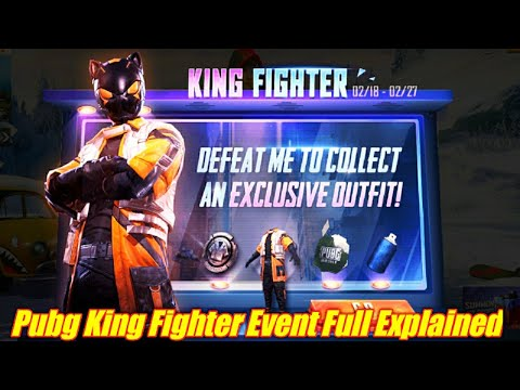 Pubg Mobile King Fighter Event Explained - Pubg New Event King Fighter To Get Rewards Black Cat Set - 동영상