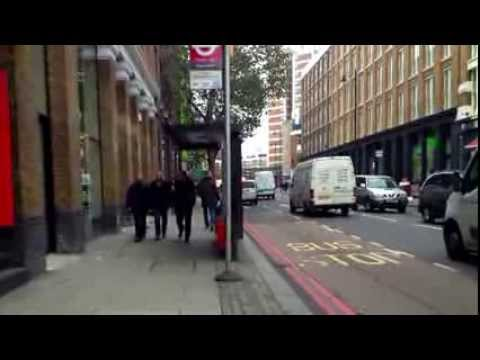 Route from Old Street Underground to Moorfield Eye Hospital