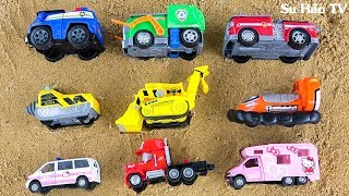 Learn Colors With Paw Patrol, Disney Cars Sand Puzzle For Children | Car Toy Kids