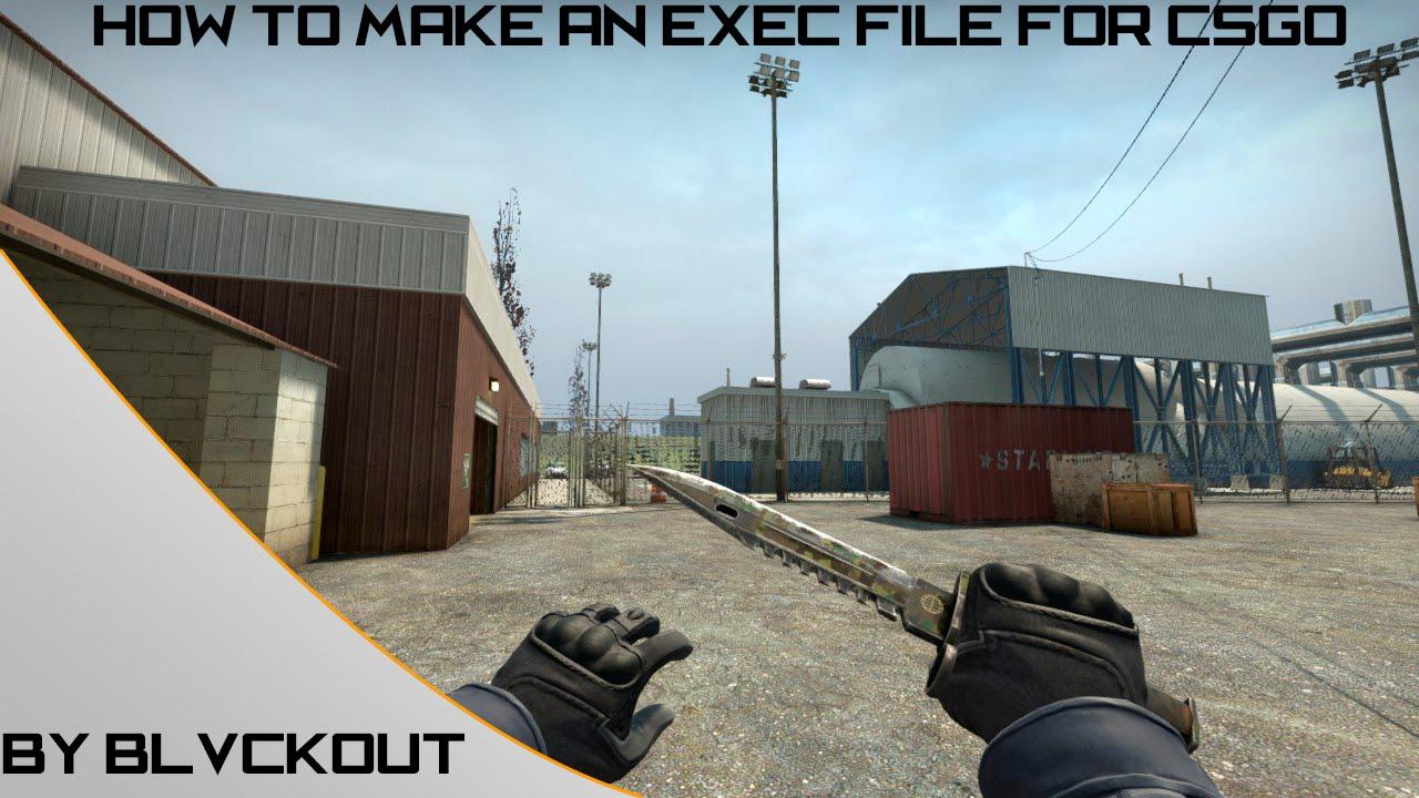 Как создать файл autoexec cfg кс го пак оружия для cs 1 6 из кс го