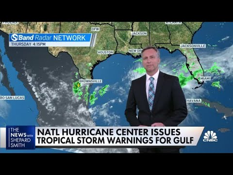 National Hurricane Center issues tropical storm warnings for Gulf of Mexico