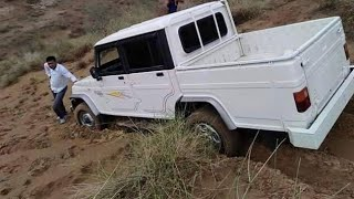 Bolero camper off roading