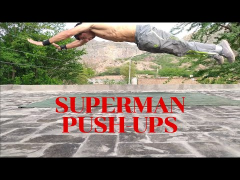 Superman Pushups with