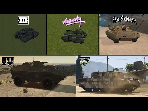 Evolution Of TANK In GTA Games! (GTA 3 Vs VC Vs SA Vs IV Vs V) + How To Get Tanks?