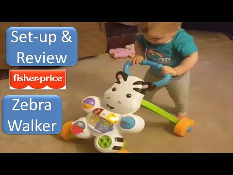 Fisher Price Learn With Me Zebra Walker Set Up And Review