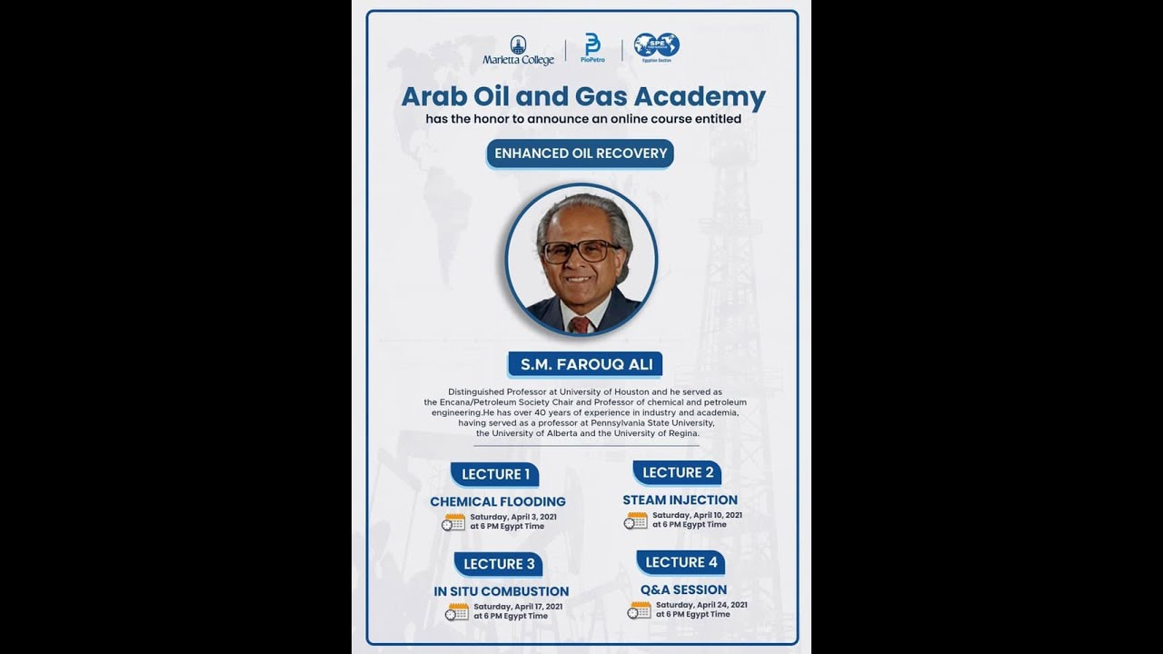 Download Enhanced Oil Recovery Short Course by Dr. Farouq Ali, Lecture 01/04
