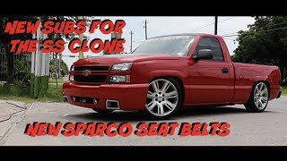 New Sparco belts & Sundown Audio Subs for the SS clone