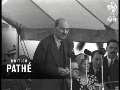 Attlee Speaks At Labour Rally: Taunton (1950)