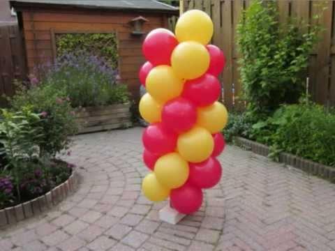 Zelf een ballonnenboog maken met balloon vines youtube for Ballonnen decoratie zelf maken