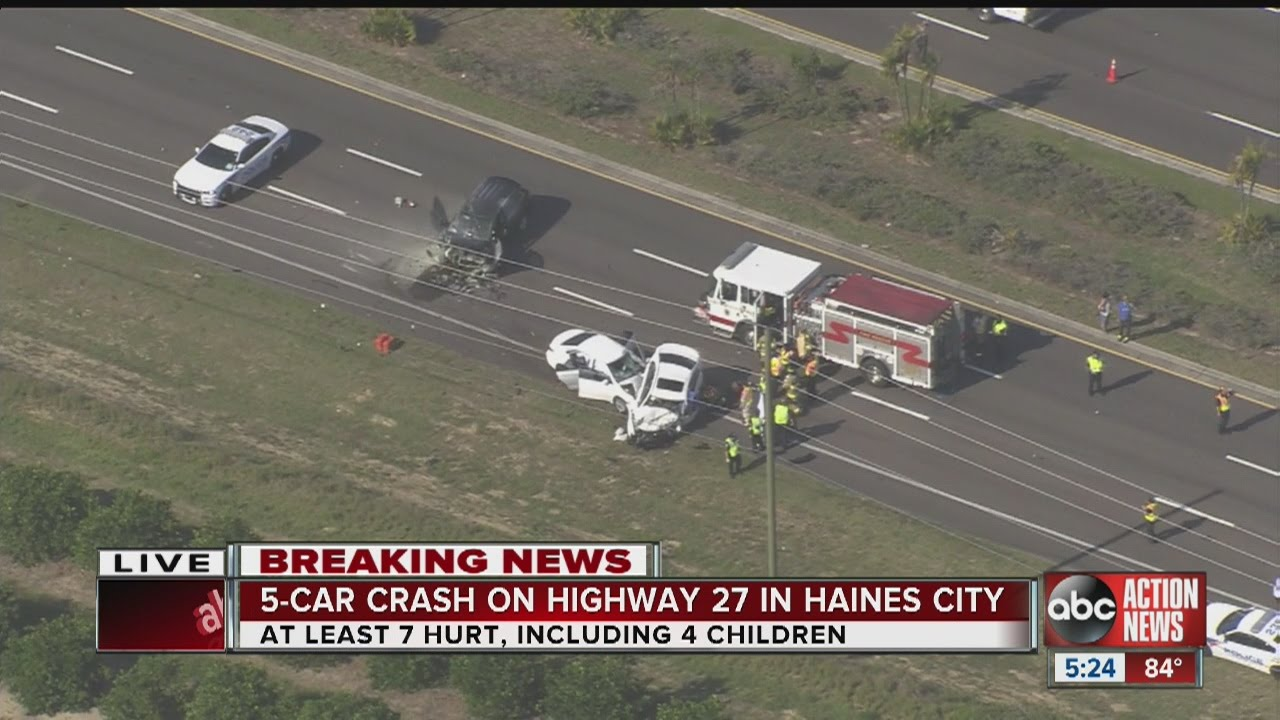 5-car crash on U S  27 in Haines City