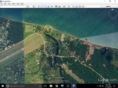 WW II Guadalcanal Battle of the Tenaru location from Google Earth