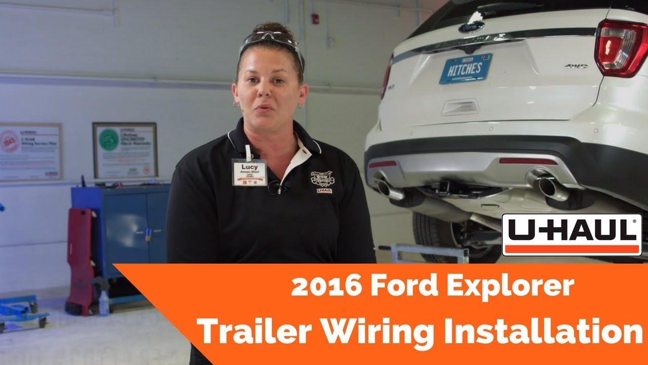2016 Ford Explorer Trailer Wiring Installation - YouTubeYouTube