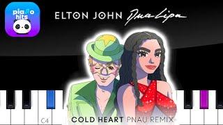 Elton John Dua Lipa - Cold Heart PNAU Remix    Piano Tutorial