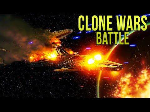 CLONE WARS FLEET vs FIRST ORDER - Star Wars Empire at War - Yoden Mod