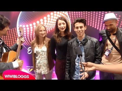 "Anita Simoncini & Michele Perniola ""Chain of Lights"" acoustic @ Eurovision 2015 | wiwibloggs"