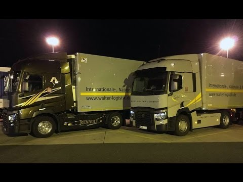 Truck driving to Berlin with Renault T460
