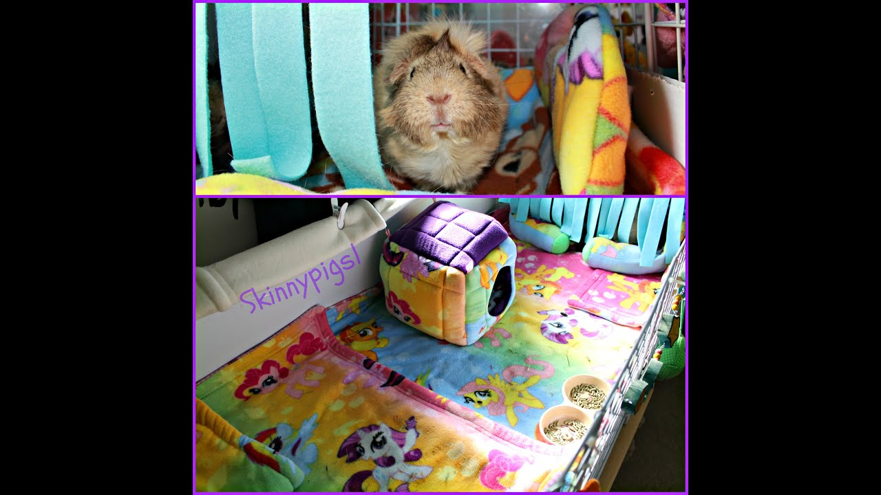 C c cage cleaning fleece liners for guinea pigs youtube for How to clean guinea pig cages
