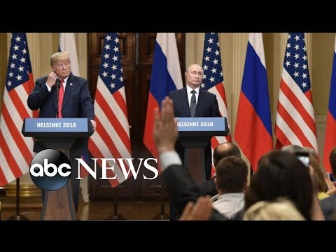 The U.S. president said he blamed the U.S., Russia and the Mueller probe for the decline in relations.