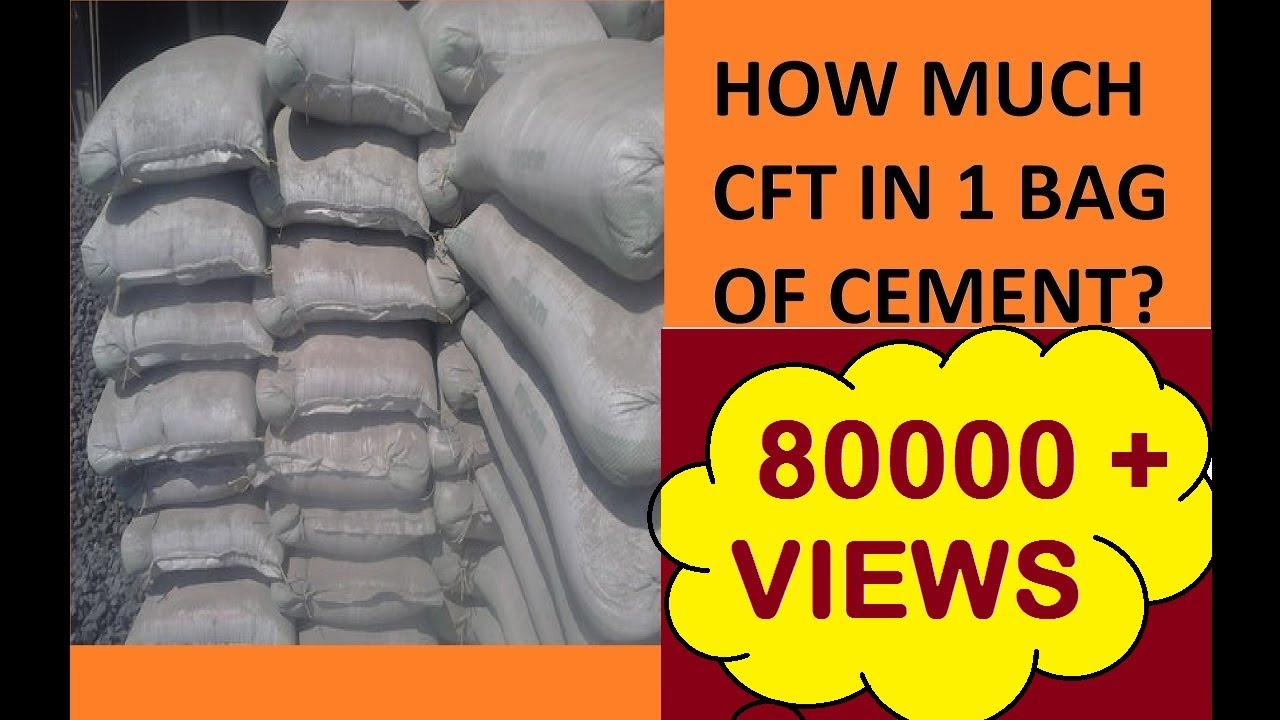 Derivation For How Much Cft In 1 Bag Cement Hindi