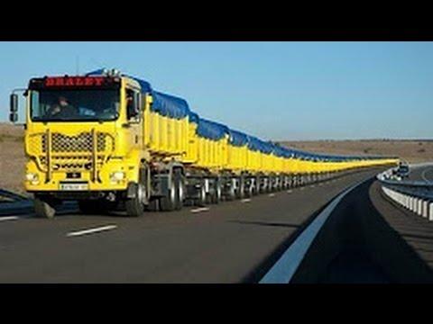 दुनिया की सबसे लंबी ट्रक्स - Top 5 Longest Truck Road Trains