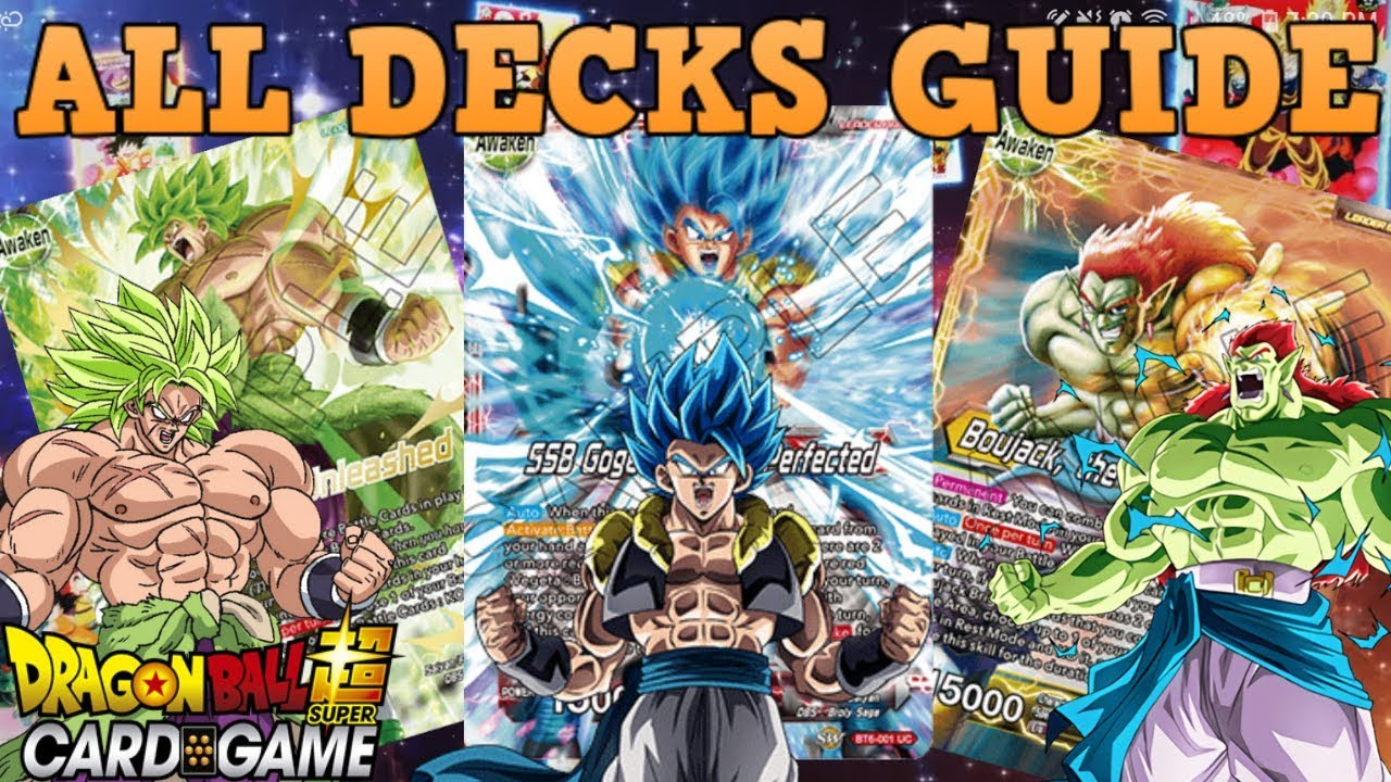 All The New Destroyer Kings Decks Profile Guide Dragon Ball Super Tcg