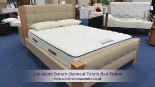 Limelight Saturn Oatmeal Fabric Bed Frame