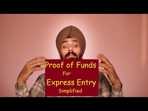 Proof Of Funds For Express Entry!! Simplified!! #ShavinderSingh