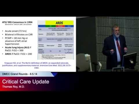 Critical Care Update - Thomas Roy, MD