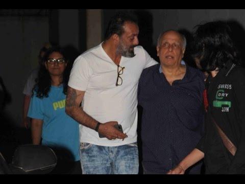 Sanjay Dutt, Mahesh Bhatt and Pooja Bhatt meeting at Vishesh Films office