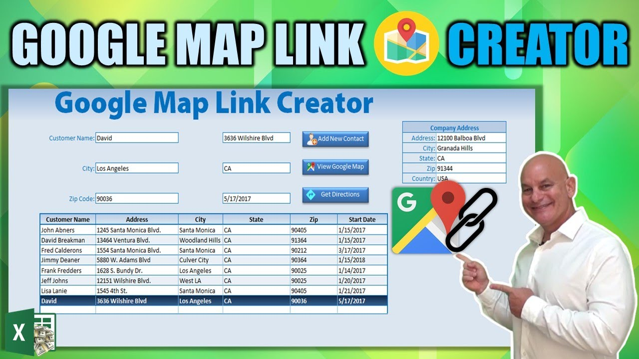 How To Create Google Map and Directions Link With Excel Google Map Get Directions Link on maps and directions, google earth street view, google mapquest, get walking directions, bing get directions, google us time zones map, i need to get directions, google business card, funny google directions,