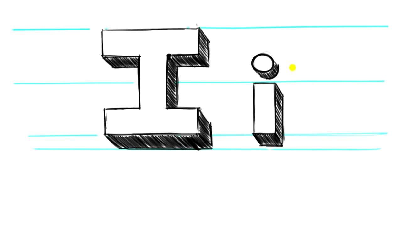 How To Draw 3d Letters I Uppercase I And Lowercase I In 90 Seconds