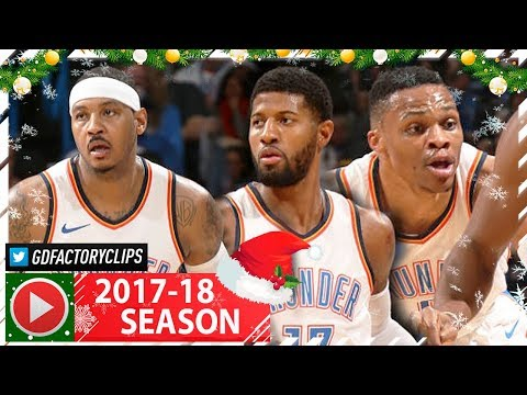 Russell Westbrook, Carmelo Anthony & Paul George BIG 3 Full Highlights vs Jazz (2017.12.20) - EASY!