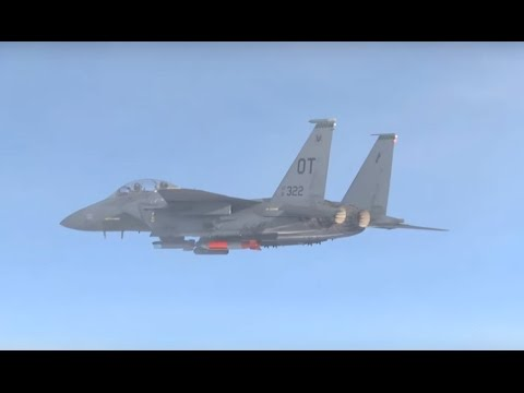 US Air Force & NNSA - F-15E Strike Eagle Fighter B61-12 Nuclear Bomb Flight Testing [1080p]