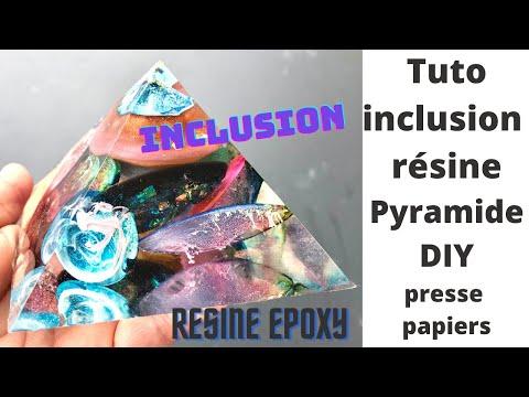 INCLUSION RESINE EPOXPY PYRAMIDE PRESSE PAPOER DIY DECORATIO