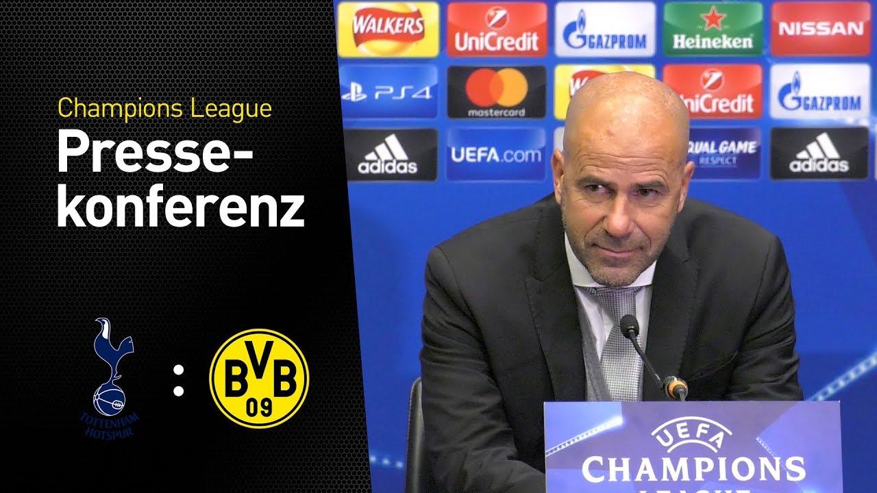 """""""Wir haben nicht aufgepasst"""" - Pressekonferenz mit Peter Bosz   Tottenham Hotspur - BVB 3:1"""