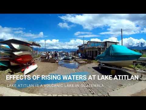 Effects of Rising Waters at Lake Atitlan Guatemala