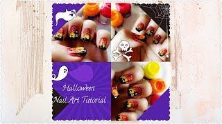 Halloween Nail Art Tutorial/ Fabric Paints