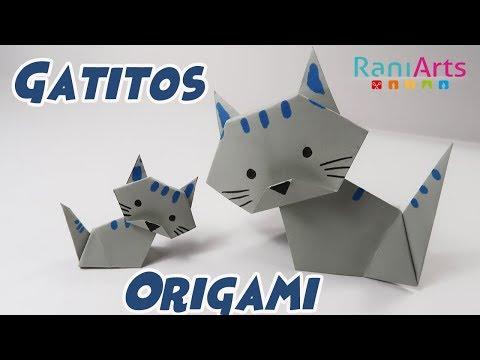 GATITOS DE ORIGAMI - DIY - FÁCIL (Paso a Paso)