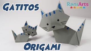 GATITOS DE ORIGAMI - DIY - FÁCIL (Paso a Paso) thumbnail