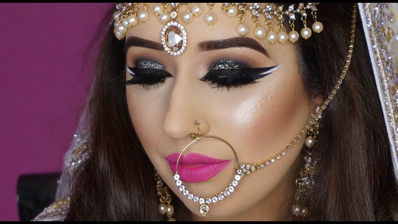 real bride nikaah asian bridal makeup bold eyes and