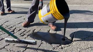 FastPatch Asphalt Alligatoring Crack Repair (ACR Kit) Demonstration