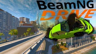 BeamNG Drive - The First Major City! - West Coast USA - BeamNG Drive Gameplay Highlights