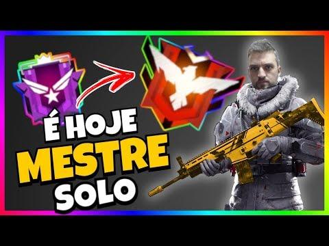 🔴  FREE FIRE AO VIVO PEGANDO MESTRE SOLO HOJE (LIVE) CAÇANDO OS HACKS 100% HS