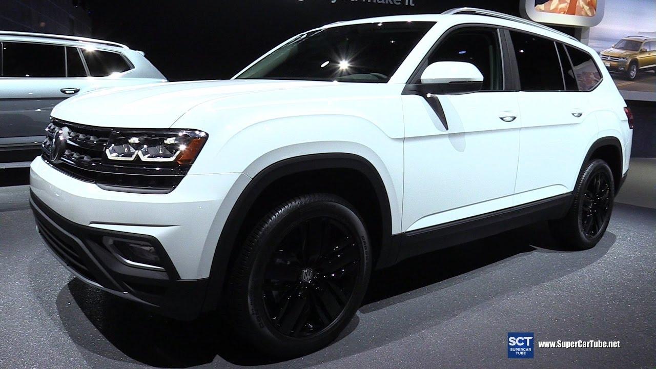 2017 Volkswagen Atlas SEL V6 4motion - Exterior and Interior Walkaround -Debut at 2016 LA Auto ...