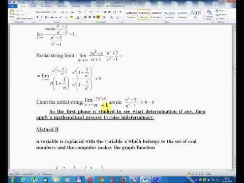 Lesson number five -Mathematical Analysis Volume I