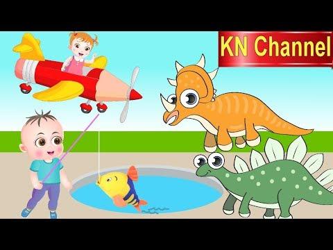 Bé Na ĐI CÂU CÁ CÔNG VIÊN KHỦNG LONG KN Channel Hoạt hình Việt Nam | GIÁO DỤC MẦM NON