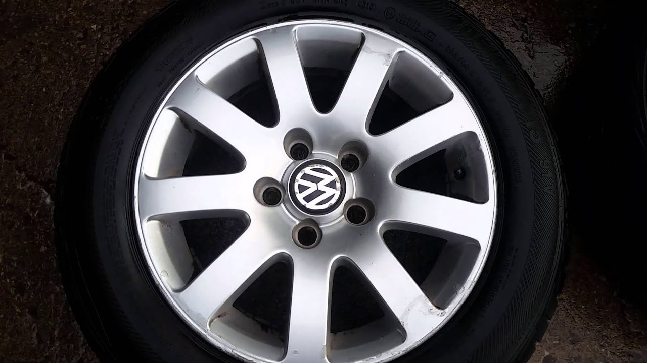 Volkswagen passat 15 inch alloy wheels 5x112 - YouTube