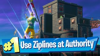 Use different Ziplines at The Authority Location - Fortnite Battle Royale