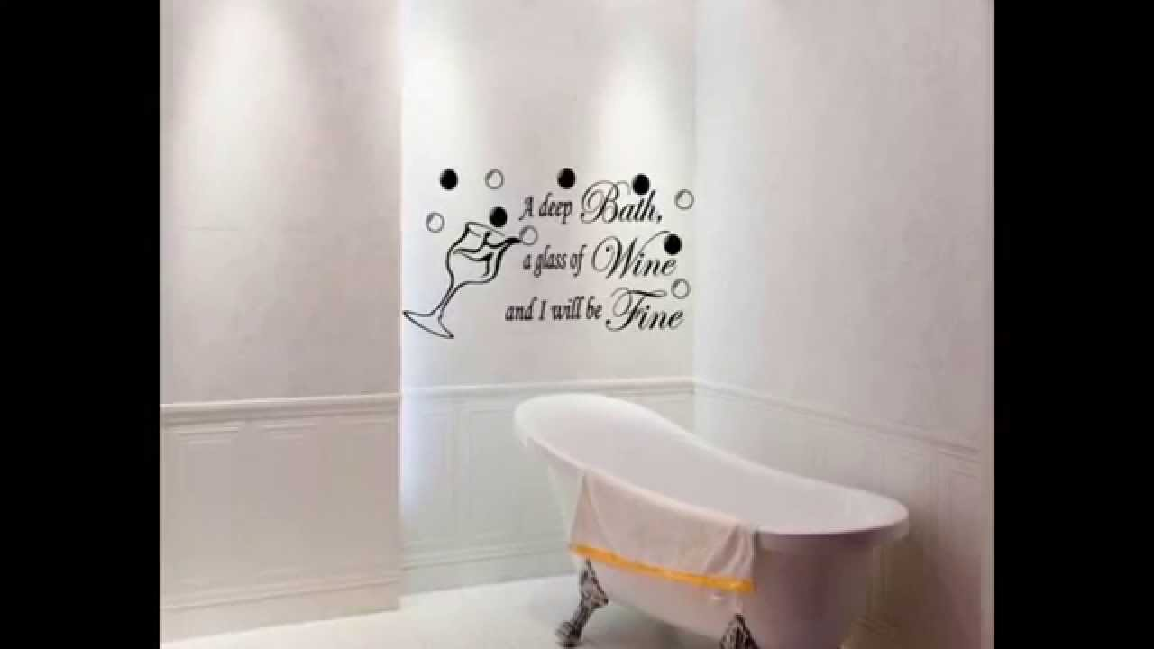 Bathroom quotes funny bathroom quotes bathroom wall for Bathroom wall decor quotes